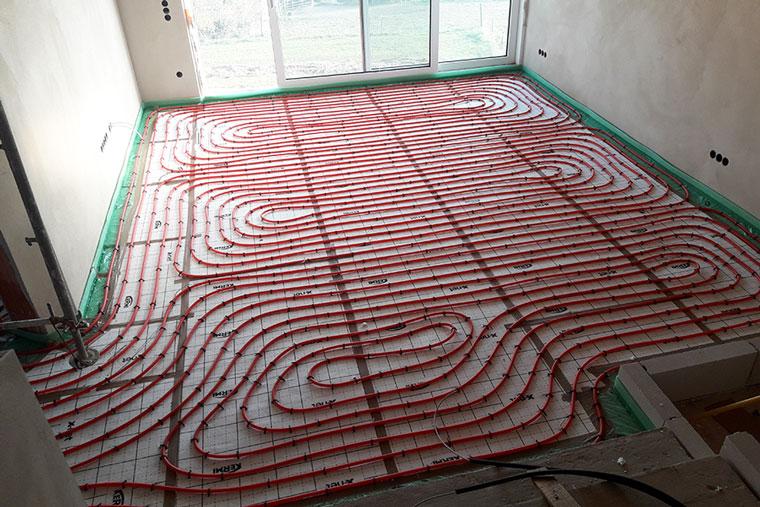 Fußbodenheizung für den Wohnbereich